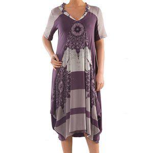 Plus Size Tulip Dress with Print - La Mouette